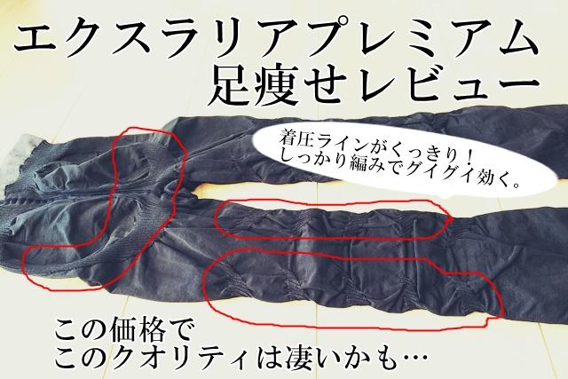 エクスラリアプレミアム 足痩せ 着圧タイツ 着圧ソックス エクスシリーズ ブログ 効果 サイズ M L