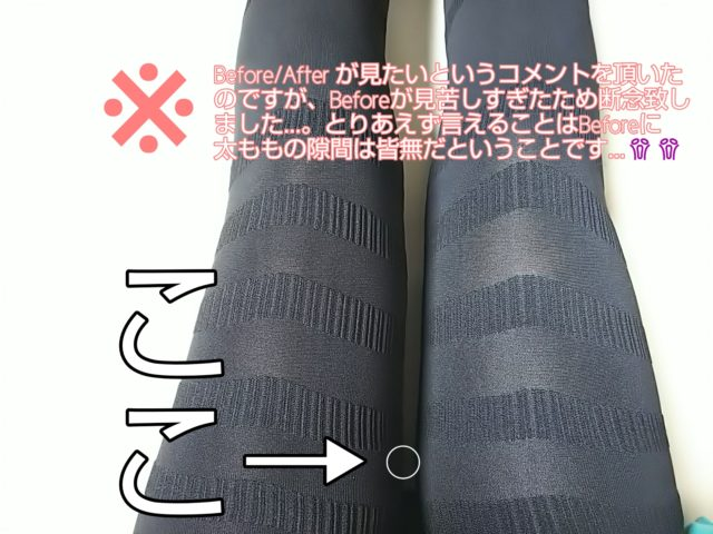 スラライン ブログ レポ 写真 脚痩せ